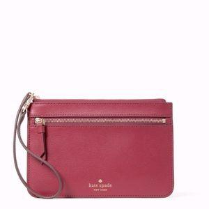 Kate spade ♠️ cranberry cocktail top zip wristlet